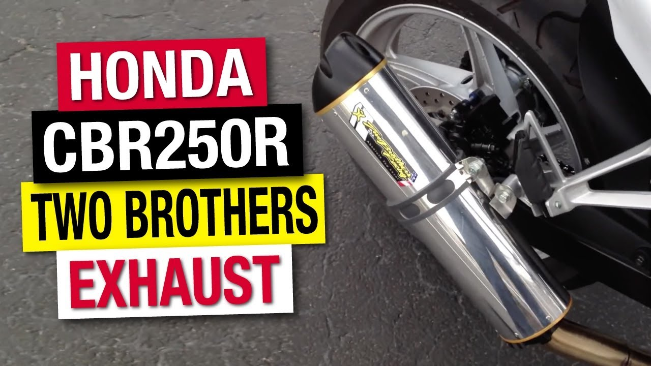 2012 Honda CBR 250R with Two Brothers VALE Exhaust - YouTube