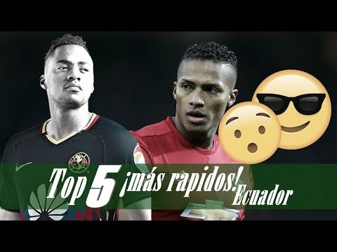 TOP 5 ¡Futbolistas ecuatorianos más rápidos!