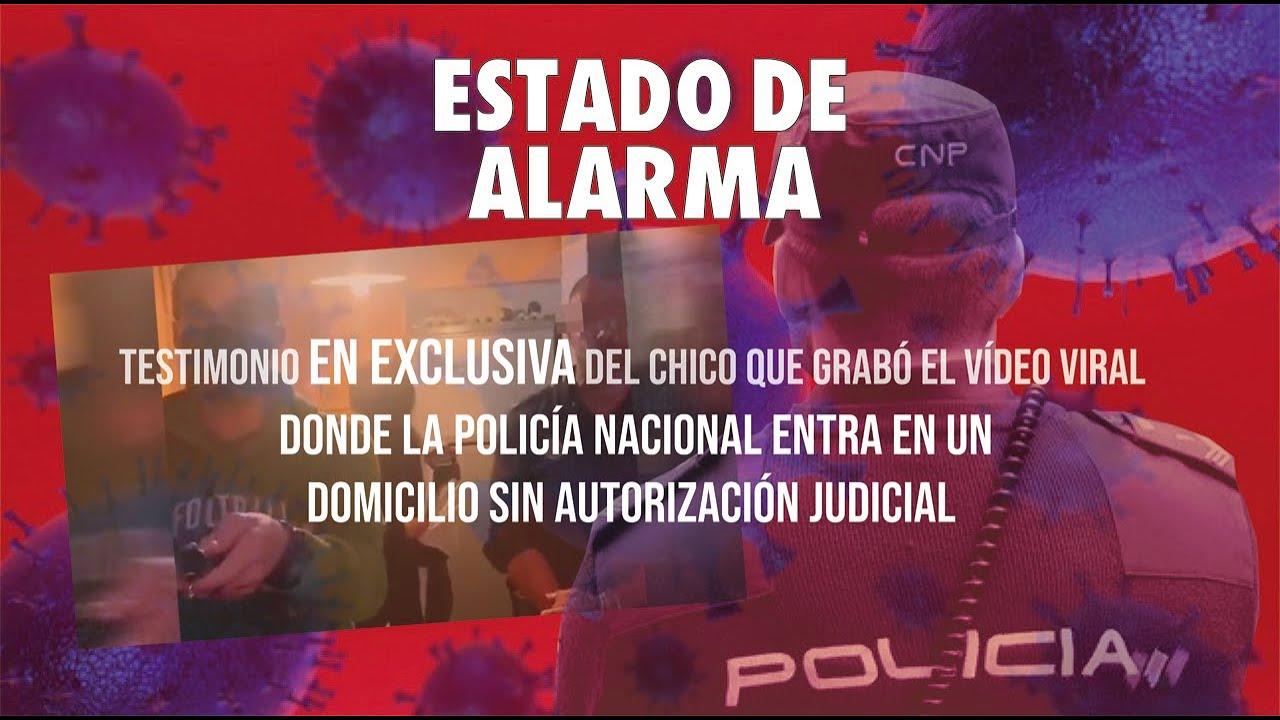 Habla el joven del video viral que grabó a los policías que entraron en una casa sin autorización