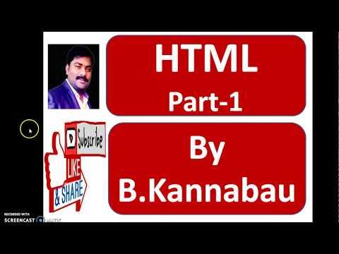 HTML -Part 1