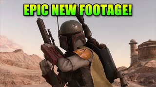 awesome new star wars battlefront footage   boba fett leia emperor han