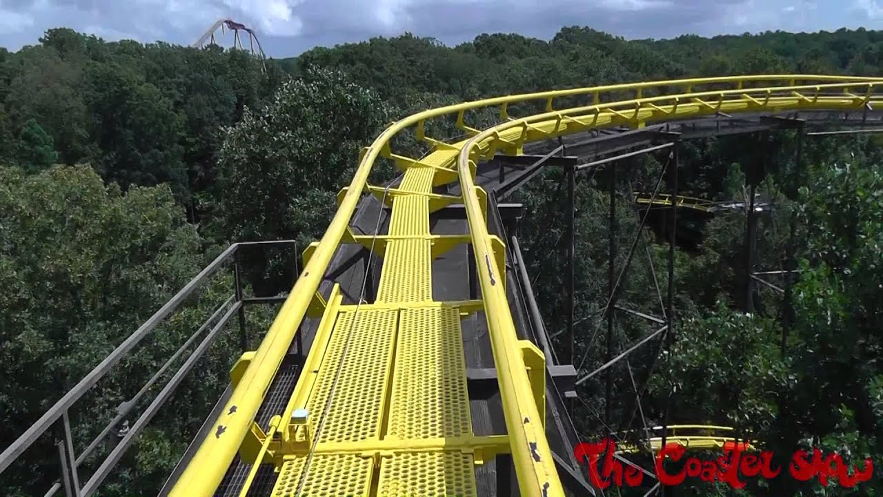 Loch Ness Monster Front Seat Hd Pov Roller Coaster Busch Gardens Williamsburg Youtube