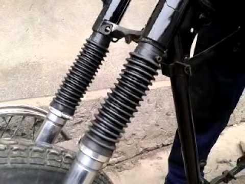 Фото № 7342 Меняем переднюю вилку на мотоцикле урал
