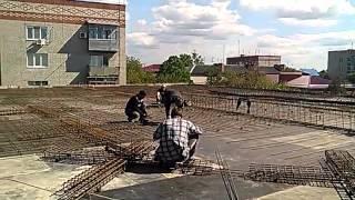 Армирование плиты торгового комплекса!(, 2015-05-07T15:10:06.000Z)