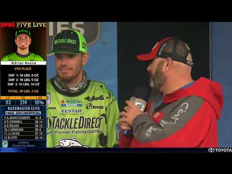 Bassmaster LIVE at Lake Martin- Sunday