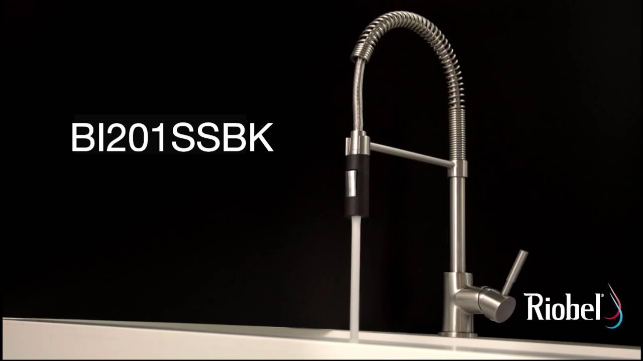 Riobel Bistro kitchen faucet / robinet de cuisine Bistro BI201SSBK ...