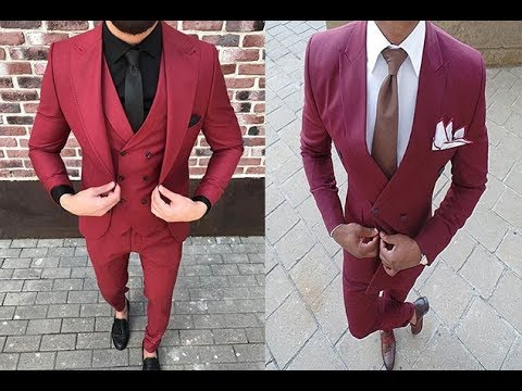 TOP 40 Red Suit Fashion Styles For Men !! Maroon !! ANew Suits Men