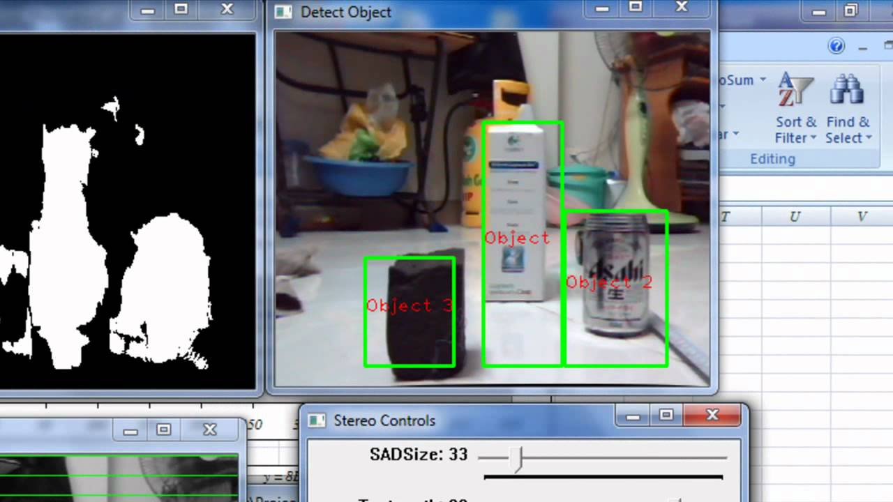 Object detection and distance calculation based on stereo vision technique