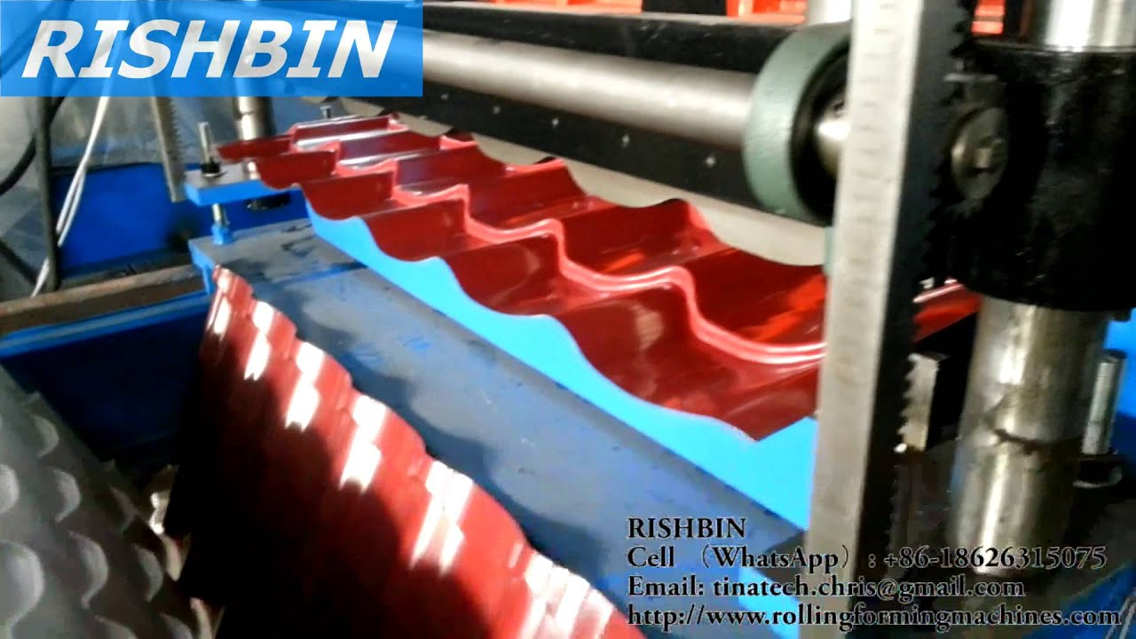 Glazed Roofing Tile Roll Forming Equipment ; Glazed Metal Roof Panel Roll  Forming Machine