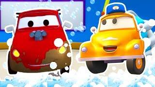 Автомойка Эвакуатора Тома и Гонщик Джерри | Мультфильмы с машинками для детей
