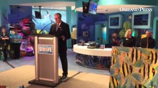 Great Lakes Crossing General Manager Steven Berlow at @sealifemichigan grand opening