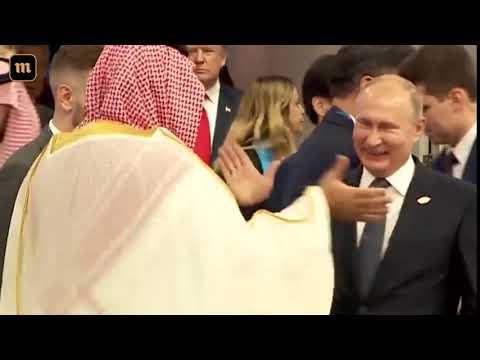 Путин и саудовский принц на G20