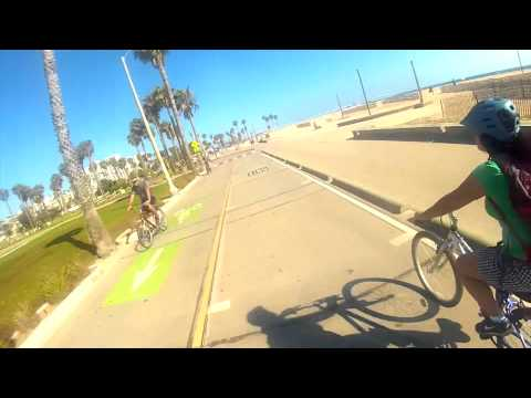 Bike Cruising Malibu to Venice Beach Boardwalk