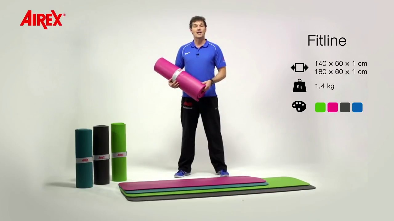 Airex Fitline Exercise Mats Entry Level Model For Daily Use Youtube