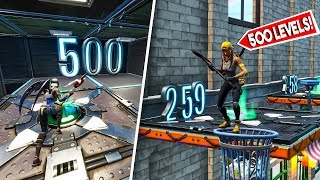 500 *NOOB* PARKOUR LEVELS! - Fortnite Creative (Nederlands)