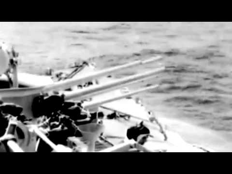 British Fleet Units Bombard Truk: British CV Afire During Sakashima Op, 06/23/1945 (full)