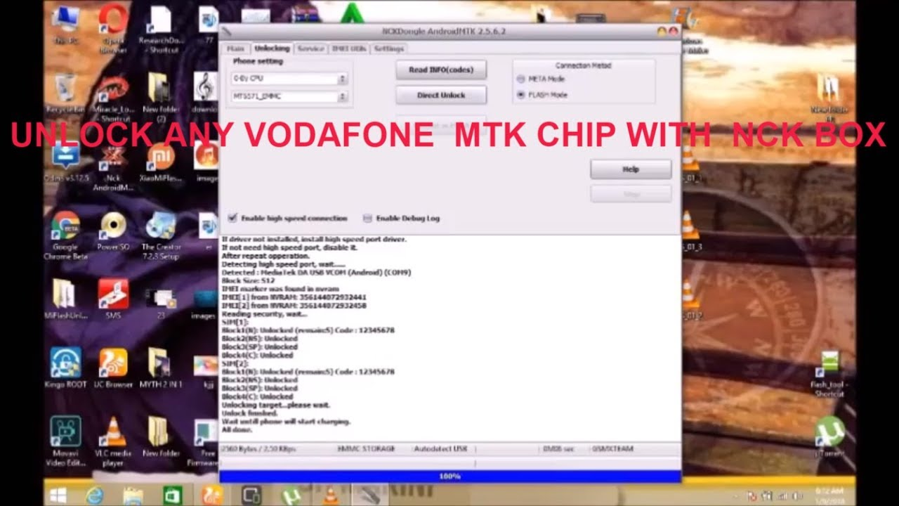 HOW TO UNLOCK VODAFONE TO ALL NETWORK WITH NCK TOOL
