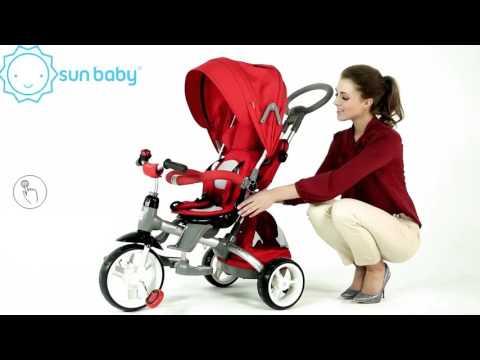 Трехколесный велосипед с ручкой Little Tiger T 500 Sun Baby