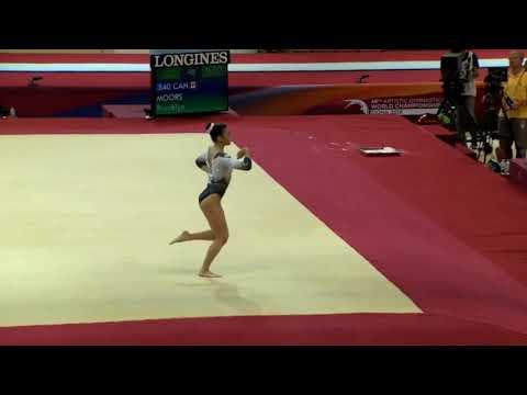 Brooklyn Moors (CAN) Floor Event Finals 2018 Doha World Championships