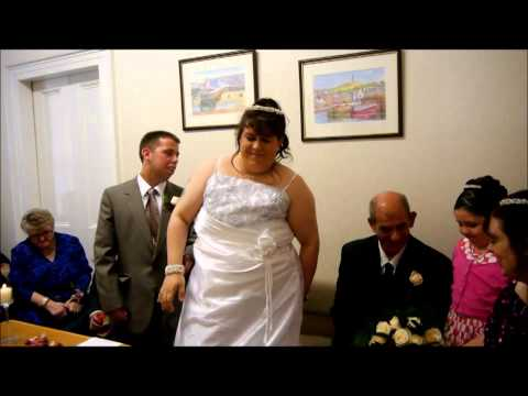 LAURA AND JAMES  MARRIED IN BANFF SCOTLAND 2014