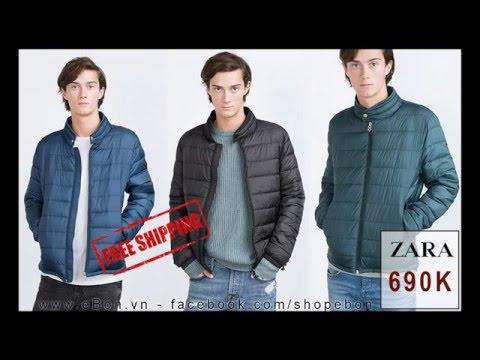 Áo Khoác Nam Zara Quilted Jacket With Knit Details AK88