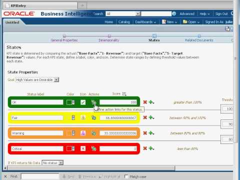 OBIEE Training - OBIEE 11g KPIs (Key Performance Indicators) And KPI Watchlist Tutorial