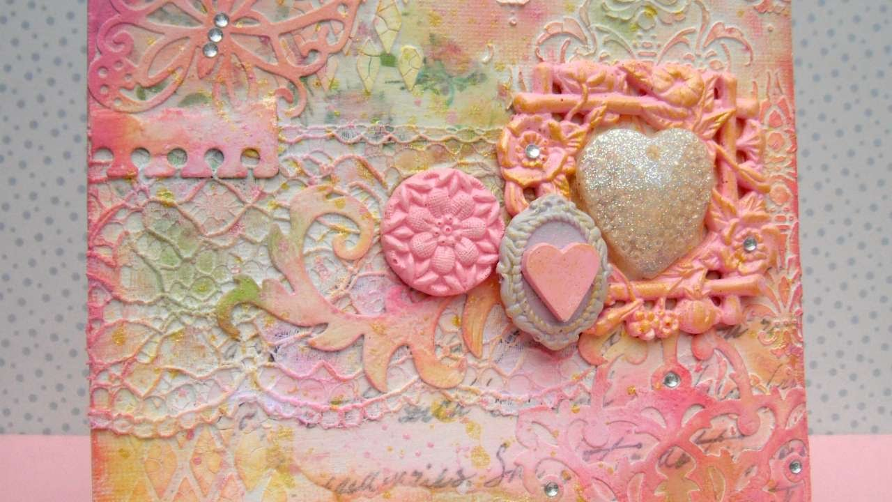 How To Decorative Mixed Media Canvas