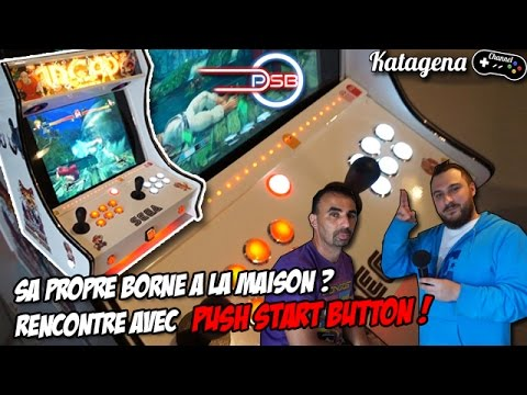 Borne d'arcade Homemade - Rencontre avec Push Start Button [Video Facecam FR / Francais]