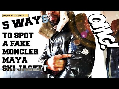 5 WAYS TO SPOT A FAKE MONCLER MAYA JACKET | TRYING ON A BLACK MAYA