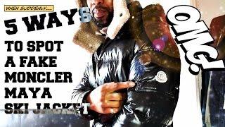 5 WAYS TO SPOT A FAKE MONCLER MAYA JACKET | TRYING ON A BLACK MAYA