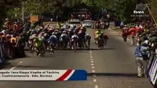 TVes - Llegada etapa 1 Vuelta al Táchira 2014