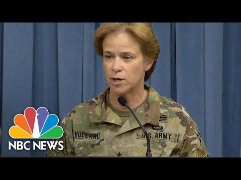 Pentagon Updates On Hurricane Response Efforts In Puerto Rico, Virgin Islands | NBC News
