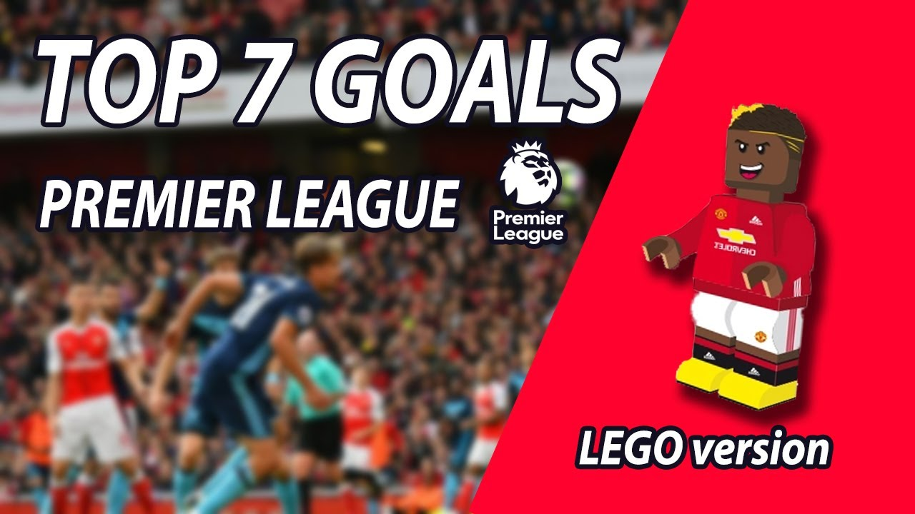 Lego Stopmotion : Top 7 goal Premiere League [ Brick Build HD ]