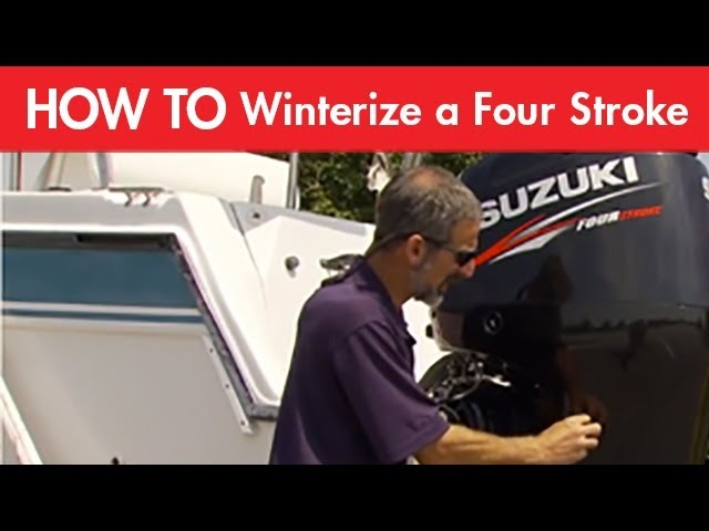 How to Winterize a Four Stroke Outboard Motor