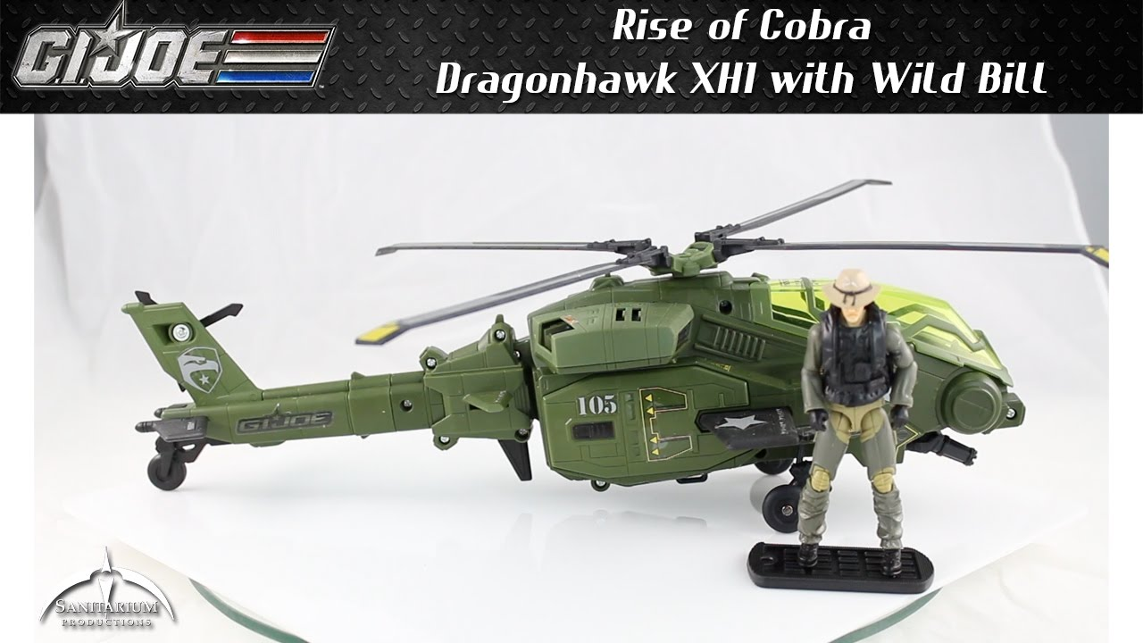 Gi Joe Rise Of Cobra Dragonhawk Xh1 With Wild Bill Unboxing Build