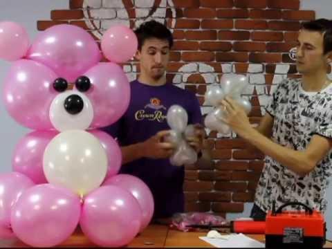 игрушки из шариков пошаговая инструкция