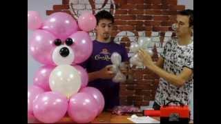 Мишка из воздушных шаров, своими руками (balloons bear)(, 2013-06-26T07:28:59.000Z)