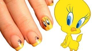 Tweety Nail Art