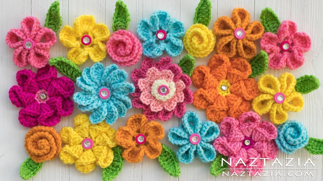 e2da47414aa Crochet and Knitted Flowers - Review of Flower Videos by Naztazia ...