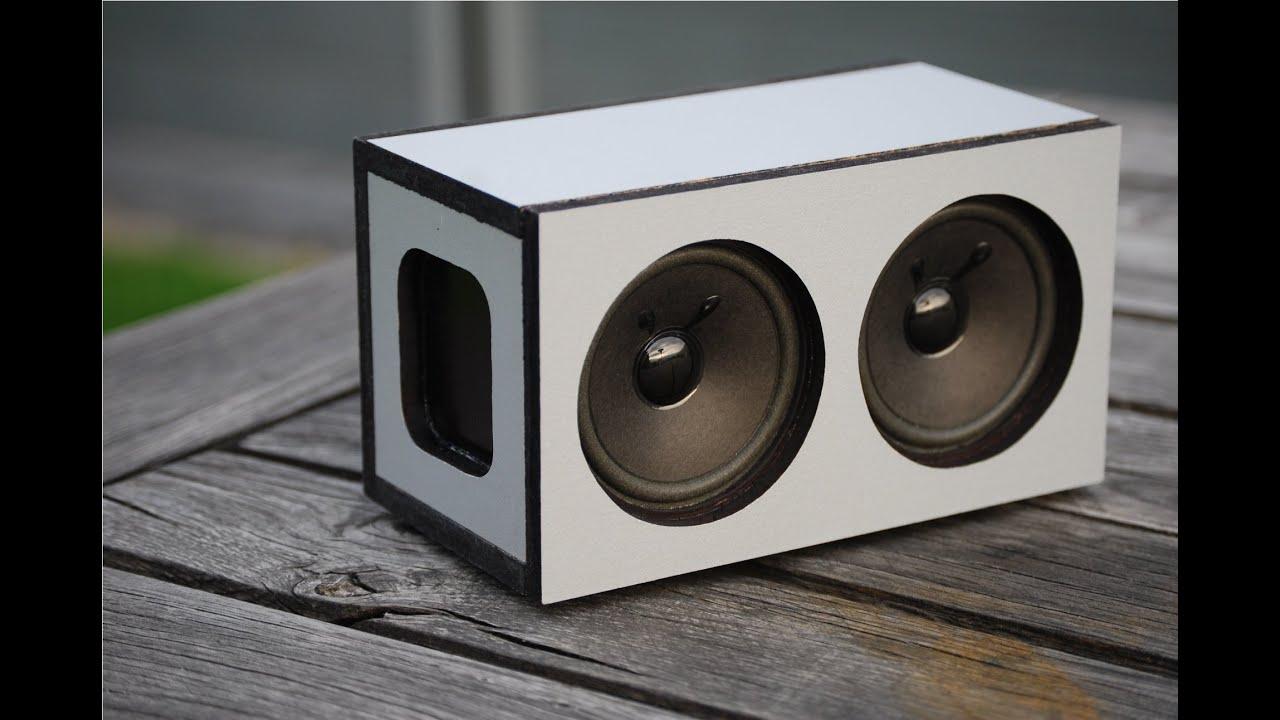 diy powerfull portable bluetooth speaker 2x5w youtube