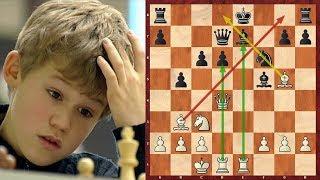 Шахматы. Юный Магнус Карлсен РАЗРЫВАЕТ В КЛОЧЬЯ голландскую защиту!