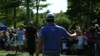 Kevin Kisner holes out from off the green for birdie at Deutsche Bank