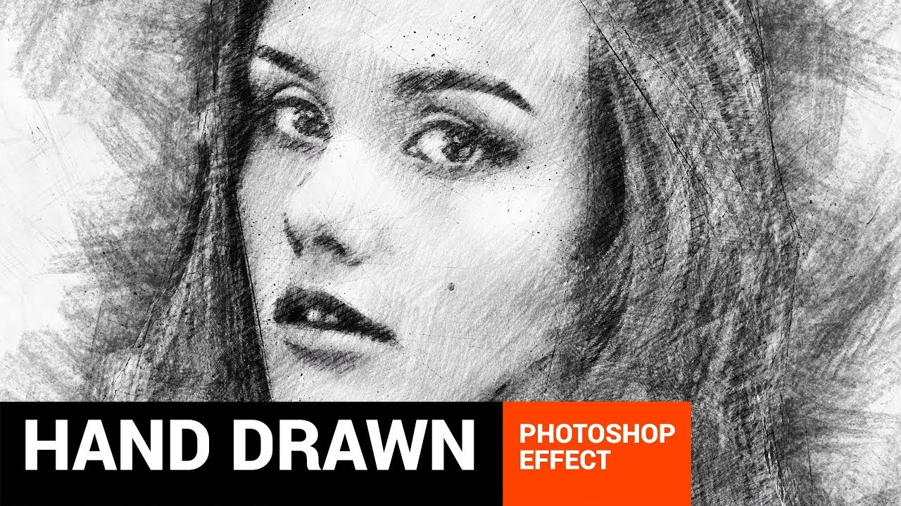Pencilum real hand drawn photoshop action tutorial
