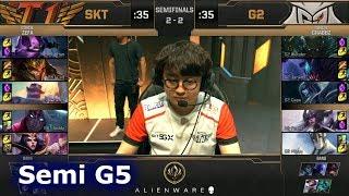 SK Telecom T1 vs G2 eSports - Game 5 | Semi Final LoL MSI 2019 | SKT vs G2 G5
