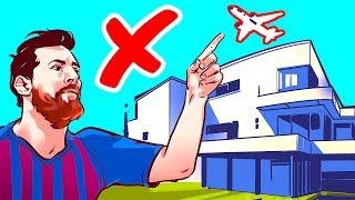 Por que os aviões não sobrevoam a casa do Messi?
