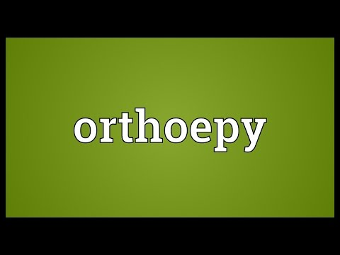 Header of orthoepy