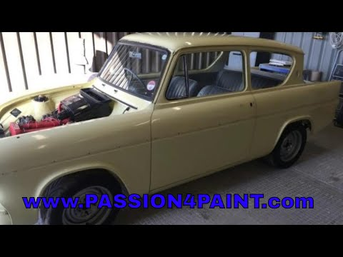 1960 Ford Anglia 105E Respray / Repaint In Ming Yellow And Repairs Part 1
