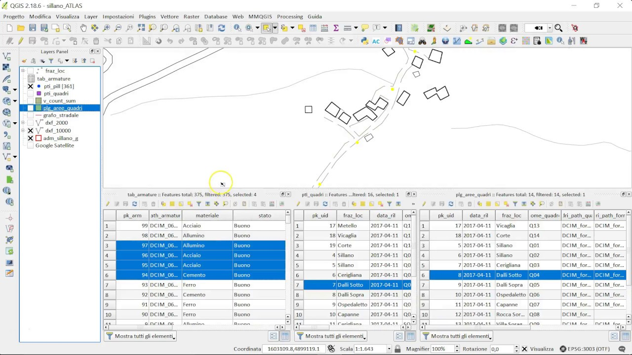 QGIS select referenced feature