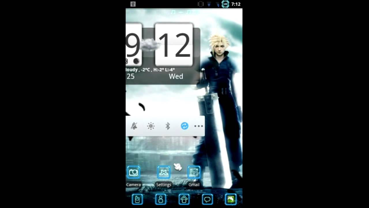 final fantasy vii live wallpaper peview - youtube