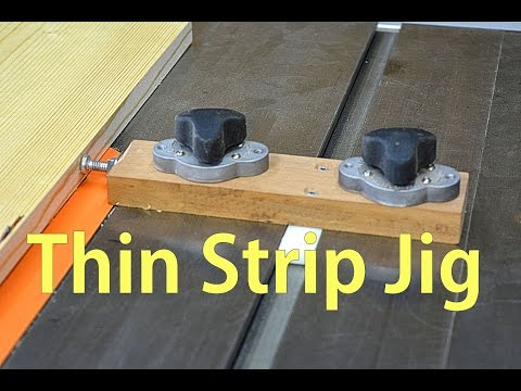 Make Thin Strip Jig for the Table Saw